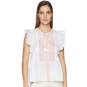 kate spade Tops - ❌SOLD❌ Kate Spade NY embroidered tassel top M